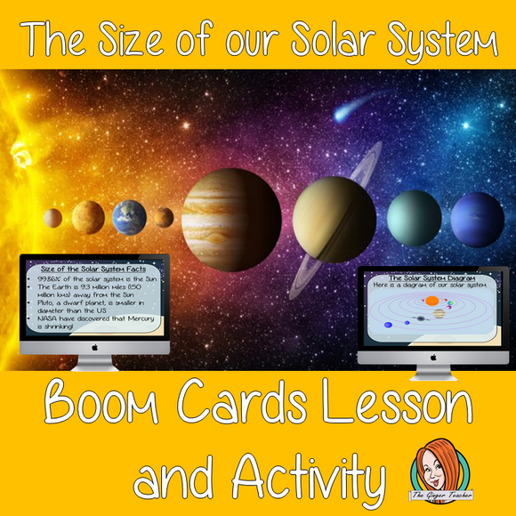 The Size of our Solar System - Boom Cards Digital Lesson