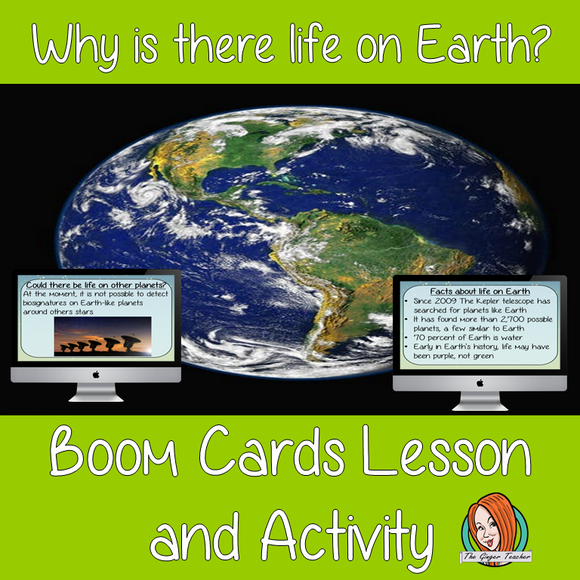 Why Life on Earth - Boom Cards Digital Lesson