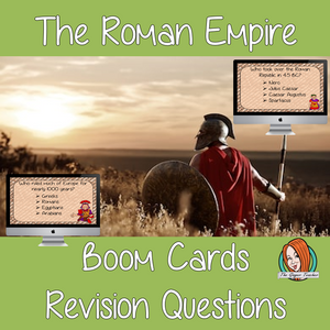 Ancient Roman Empire Revision Questions  This deck revises children's knowledge of Ancient Roman Empire. There are multiple choice revision questions to check children's understanding. These question cards are self-grading and lots of fun!