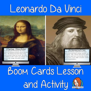 Leonardo Da Vinci - Boom Cards Digital Lesson
