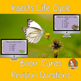 Insect Life Cycle Revision Questions  This deck revises children's knowledge of Insect Life Cycle. There are multiple choice revision questions to check children's understanding. These question cards are self-grading and lots of fun!