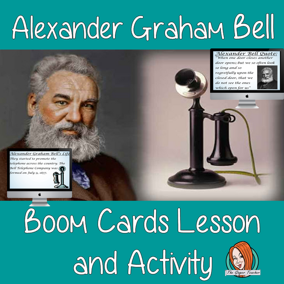 Alexander Graham Bell - Boom Cards Digital Lesson