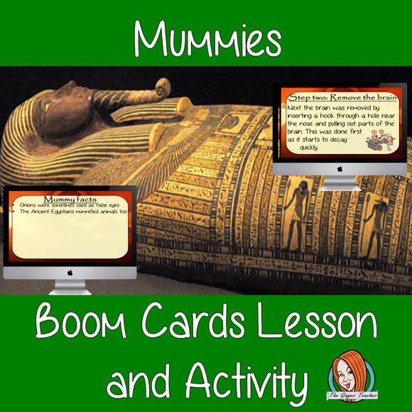 Mummies - Boom Cards Digital Lesson