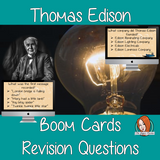 Thomas Edison Revision Questions  This deck revises children's knowledge of Thomas Edison. There are multiple choice revision questions to check children's understanding. These question cards are self-grading and lots of fun!