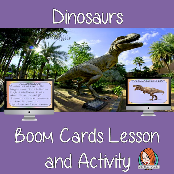 Dinosaurs - Boom Cards Digital Lesson