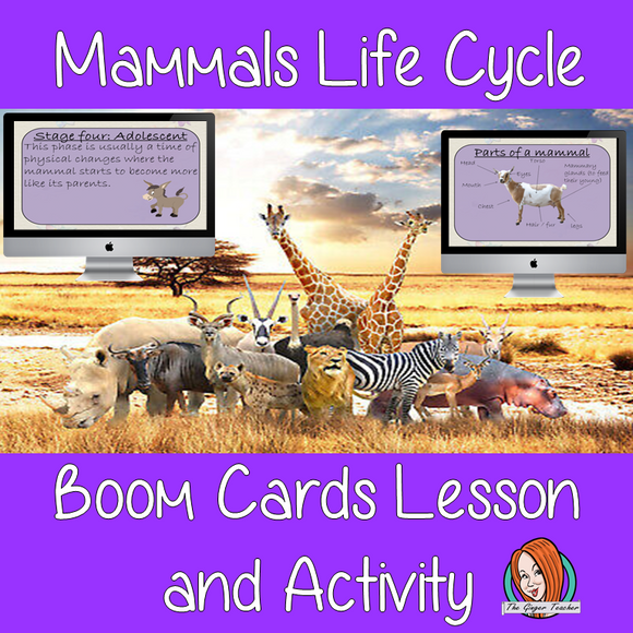Mammals Life Cycle - Boom Cards Digital Lesson