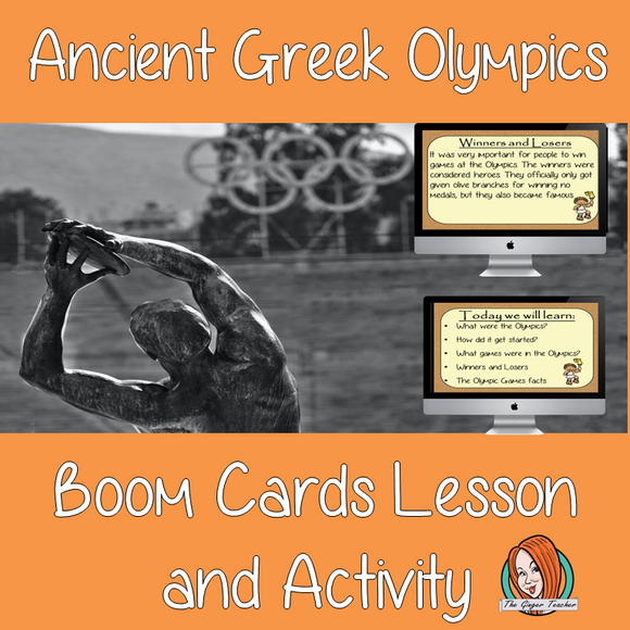 Ancient Greeks Olympics - Boom Cards Digital Lesson