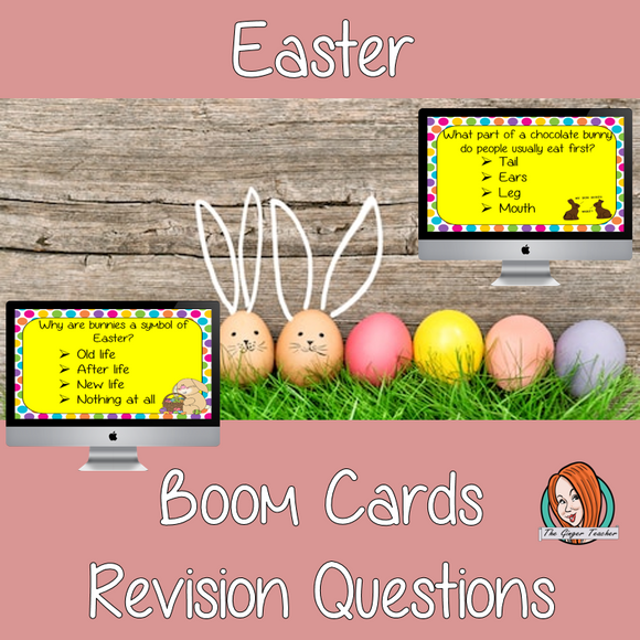 Easter Revision Questions  This deck revises children's knowledge of Easter. There are multiple choice revision questions to check children's understanding. These question cards are self-grading and lots of fun!