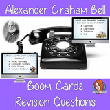 Alexander Graham Bell Revision Questions  This deck revises children's knowledge of Alexander Graham Bell. There are multiple choice revision questions to check children's understanding. These question cards are self-grading and lots of fun!