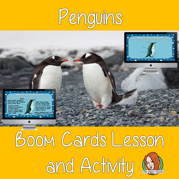 Penguins - Boom Cards Digital Lesson