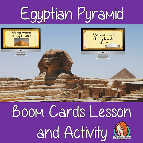 Pyramids - Boom Cards Digital Lesson