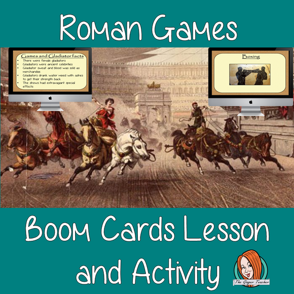 Roman Games - Boom Cards Digital Lesson