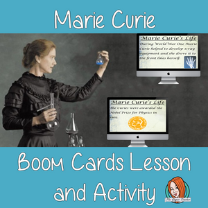 Marie Curie - Boom Cards Digital Lesson