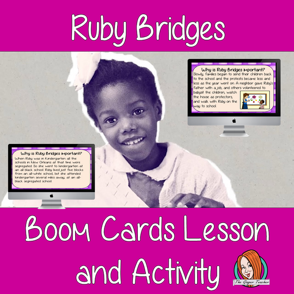 Ruby Bridges - Boom Cards Digital Lesson