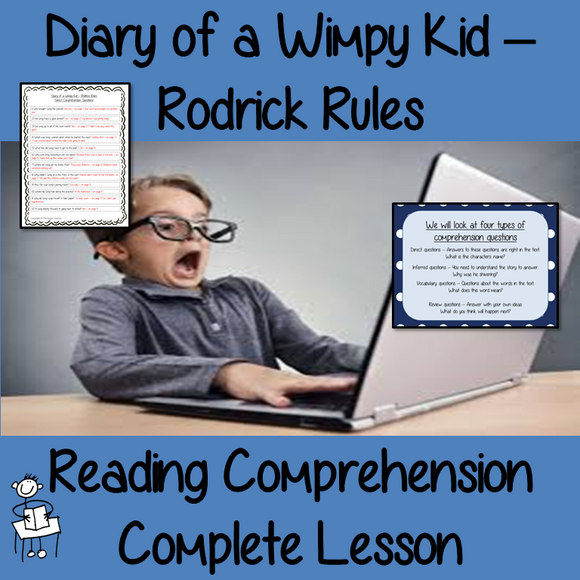 Reading Comprehension – Diary of a Wimpy Kid