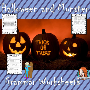 Halloween Grammar Worksheets