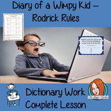 Dictionary Work – Diary of a Wimpy Kid