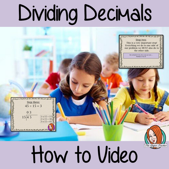 Dividing Decimals a How To Video