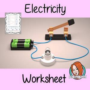 Electricity Primary Science worksheets – Circuits and hazards