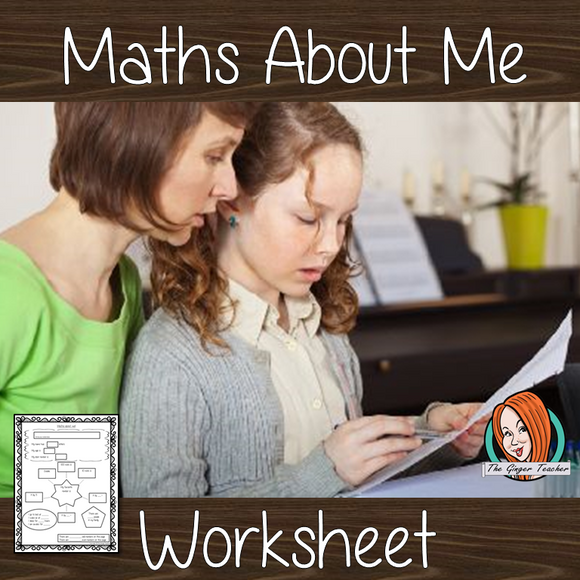 About Me Math Sheet