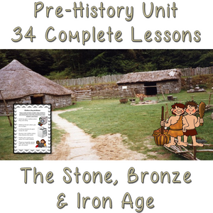 Stone Age to Iron Age complete unit of work 34 lessons, Pre-history, Scavengers and Settlers, Cave Man