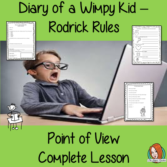 Point of View Narrative Writing  Complete Lesson  – Diary of a Wimpy Kid Rodrick Rules