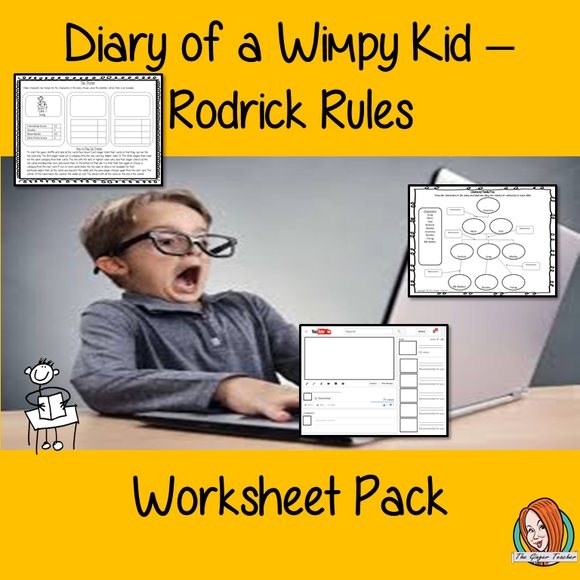 Diary of a Wimpy Kid Worksheet Pack