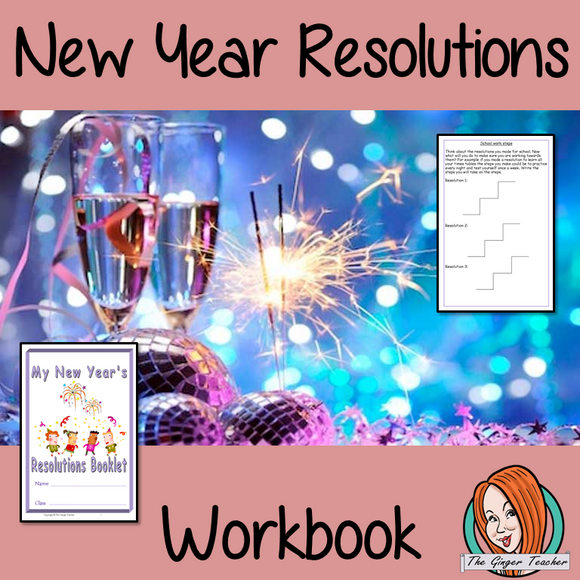 New Year Resolutions Fun Interactive Workbook