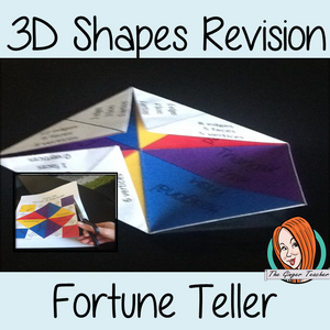3D Shapes Revision - Fortune Teller, Cootie Catcher