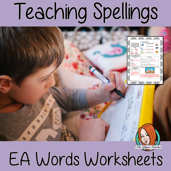 Teaching Spellings of EA words worksheets