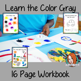 Color 'Gray' 16 Page Workbook Help your children practice recognizing and writing the color Gray, with 15 pages of activities to select and color. The 15 pages contain, object coloring, tracing, spelling the color word and picking out the Gray objects. #learncolors #teachcolors #gray #grey