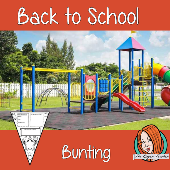 All about me – back to school bunting/ banner / pennant