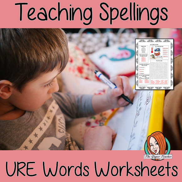 Teaching Spellings URE Words