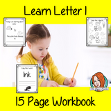 Alphabet Book Letter I    Help your children practice recognizing and using I, with 15 pages of activities.     The 15 pages contain, copying, tracing, writing, coloring, reading and spotting the letter and sound I