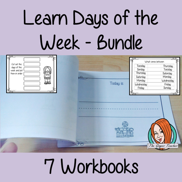 Days of the Week Pre-School Activities - Bundle