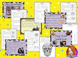 Day of the Dead Dia de los Muertos PowerPoint and Worksheets teach children about the festival of in one complete lesson. Detailed 45 slide PowerPoint on the celebrations fun traditional facts details about how it is celebrated, information about the food that is eaten and a look at the different parts of an altar. Differentiated 8 page worksheets so students demonstrate understanding great for teaching kids all about this Mexican celebration in your classroom. #teaching #dayofthedead