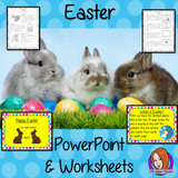 Easter PowerPoint and Worksheets teach children about the religious celebration of in one complete lesson. Detailed 30 slide PowerPoint on the celebrations fun traditional facts details about how it is celebrated, information about the Easter story and information about how the date is calculated. Differentiated 8 page worksheets so students demonstrate understanding great for teaching kids all about this religious celebration in your classroom. #teaching #easter