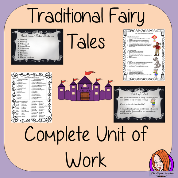 Traditional Fairy Tales Complete Unit of Lessons
