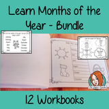 Months of the Year Pre-School Activities - Bundle