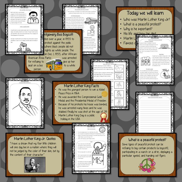 Martin Luther King PowerPoint And Worksheets Lesson – The Ginger Teacher