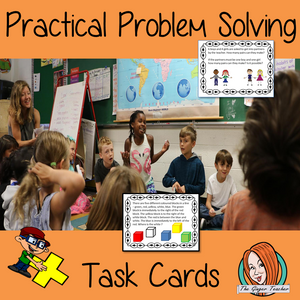 Practical Problem Solving Math Task Cards and planning sheet