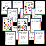 Color 'Black' 16 Page Workbook Help your children practice recognizing and writing the color black, with 16 pages of activities to select and color.     The 16 pages contain, object coloring, tracing, spelling the color word and picking out the black objects.
