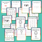 Sight Word 'Ran' 15 Page Workbook Help your children practice their sight words with 15 pages of activities to spell and use the sight word 'Ran' in sentences.     The 15 pages contain, handwriting practice, tracing and spelling the word and sentence reading and construction.