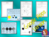 Distance Learning Phases of the Moon Google Slides Lesson     Teach your class about the moon phases of the lunar cycle.  This lesson includes a detailed 29 slide Moon schedule presentation explaining the Phases of the Moon. It covers the important parts of the lunar phases and the moon cycle movement; the names of the different phases of the moon in order; how they happen; waning and waxing; a blue moon and some general phases of the moon facts.     This is the Google Slides version of this lesson!  Unders