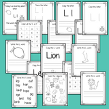Alphabet Book Letter L    Help your children practice recognizing and using L, with 15 pages of activities.     The 15 pages contain, copying, tracing, writing, coloring, reading and spotting the letter and sound L