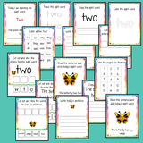Sight Word 'Two' 15 Page Workbook    Help your children practice their sight words with 15 pages of activities to spell and use the sight word 'Two' in sentences.   The 15 pages contain, handwriting practice, tracing and spelling the word and sentence reading and construction.