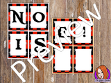 Pirate Themed Noise letters This download includes fun pirate themed noise letters. I use these to remind children to keep the classroom noise down. If they are making too much noise they lose a letter.   These are great to complete your pirate themed classroom. #classroomthemes #teachingideas #pirateclassroom