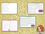 The United Kingdom National Anthem Reading Comprehension Cards  Differentiated reading comprehension cards. Three levels of texts and questions to help children with reading comprehension. This text is on The United Kingdom National Anthem and has questions to help children understand and draw meaning from the text.