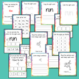 Sight Word 'Run' 15 Page Workbook Help your children practice their sight words with 15 pages of activities to spell and use the sight word 'Run' in sentences.     The 15 pages contain, handwriting practice, tracing and spelling the word and sentence reading and construction.