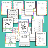 Sight Word Bundle Help your children practice their sight words with this huge bundle of workbooks, each workbook is 15 pages long and focuses on a different sight word. The 15 pages contain, handwriting practice, tracing and spelling the word and sentence reading and construction.. #sightwords # frywords #highfrequencywords